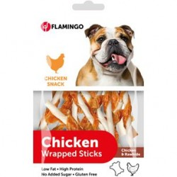 Flamingo Chicken Wrapped Chewstick